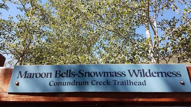 The trailhead and parking area for the Conundrum Creek trail is closed indefinitely, U.S. Forest Service officials announced Thursday.