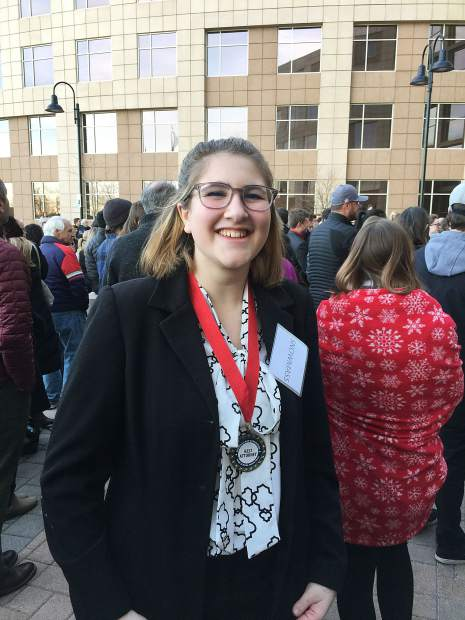 Glenwood Springs High School student Grace Oliver won a Best Attorney award award at the Colorado mock trial state championship in Golden Saturday.