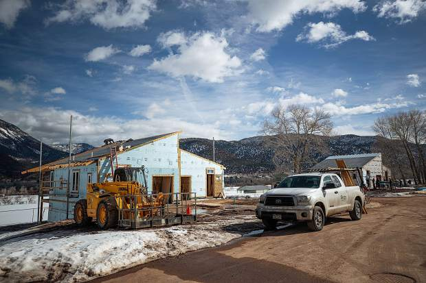 Construction on the Basalt Vista Affordable Housing project with Habitat for Humanity on Feb. 28. The Basalt Vista project will provide Roaring Fork Valley teachers and Pitkin County workers with the opportunity to own a home and raise a family in their community.