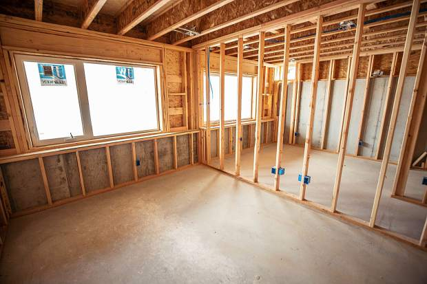 Construction on the downstairs bedrooms in the Basalt Vista Affordable Housing project with Habitat for Humanity on Feb. 28. The Basalt Vista project will provide Roaring Fork Valley teachers and local workers with the opportunity to own a home and raise a family in their community.