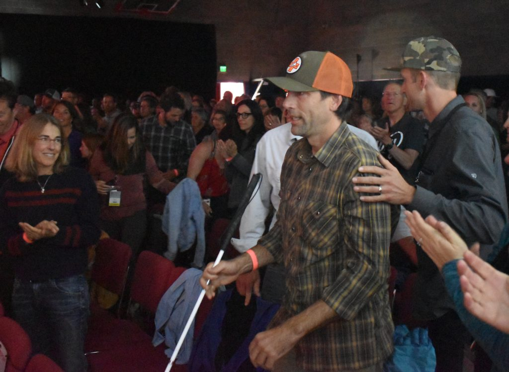 Blind adventurer Erik Weihenmayer received the inaugural 5Point Honors award after the festival highlighted the documentary