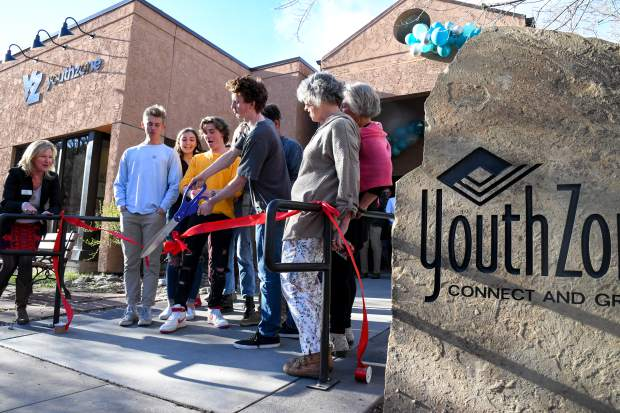 Valley teens cut the ribbon celebrating the the grand opening of the new YouthZone location at the ceremony held on Thursday evening.