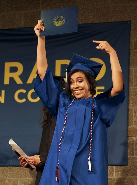 Victoria Garcia receives her Associate of Arts degree