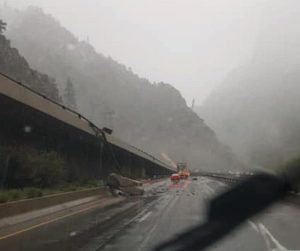 Rockslide closes Glenwood Canyon; snowstorm causes I-70 closures, hazardous driving conditions in high country