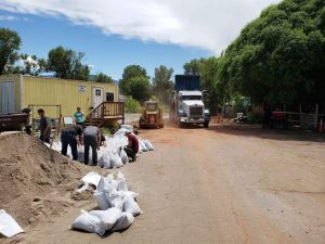 Gypsum flooding forces home to be evacuated