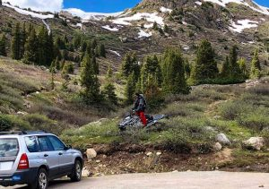 Local ecologists concerned after seeing snowmobilers in snow-free Aspen wilderness