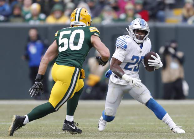 33453632 Carney column: Theo Riddick is a perfect security blanket for Joe ...