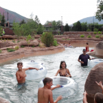 Shosone Chute ride Glenwood Hot Springs Pool