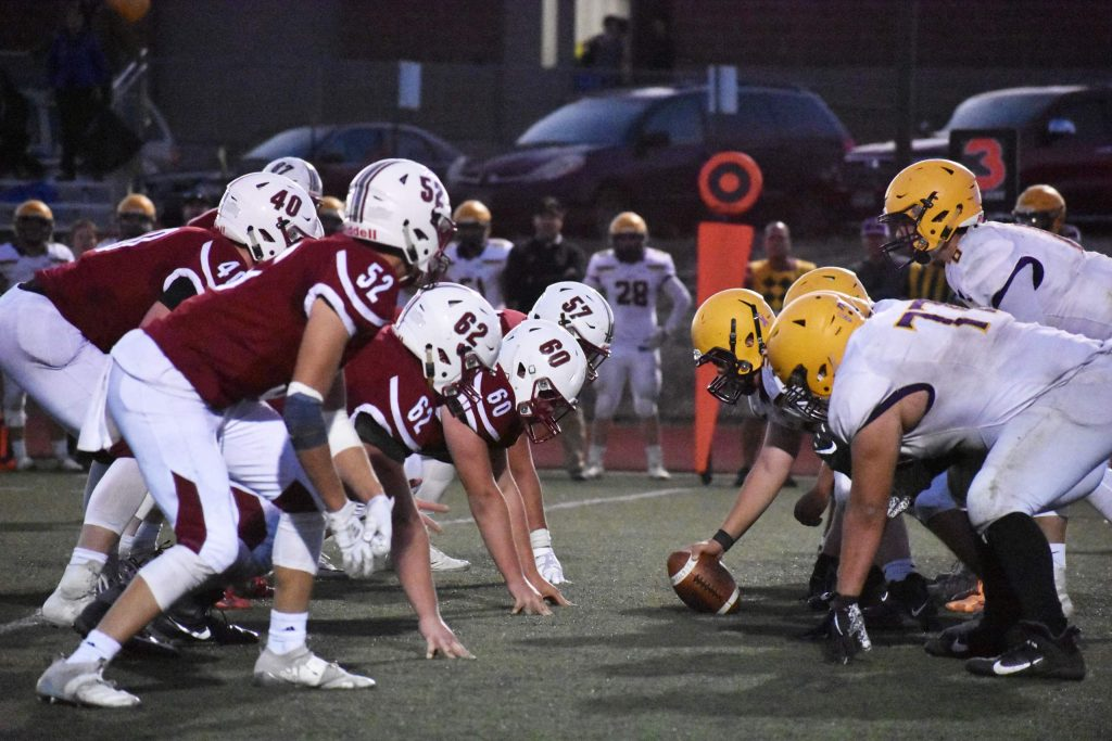 The No. 9 Basalt Longhorns defeated the No. 8 TCA Titans 13-7 on Saturday, Nov. 10, 2019 in Colorado Springs to advance to the second round of the playoffs. (Lindsey Smith, The Gazette)